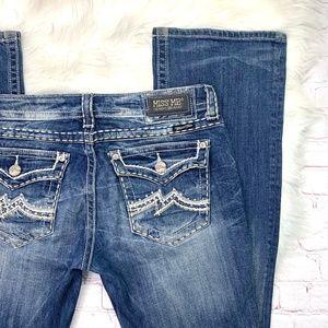 👖I•MISS ME•I Cool Flap Pocket Boot Jeans 31x34L👖